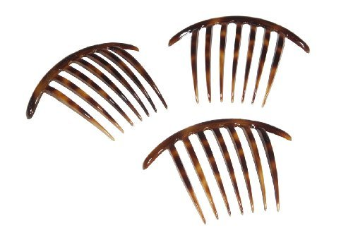 French Twist Comb Made in France Tortoise Shell - Set of Three (3) by Ear Mitts; EarMitts Shell Mitt