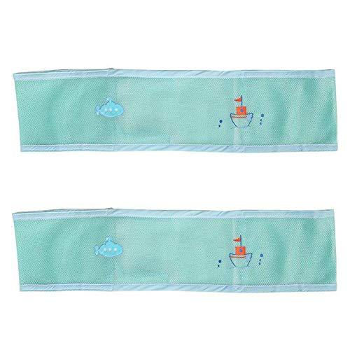 Ritapreaty Bett Stoßstange Kleinkind Universal Bett Stoßstange Baby Cartoon Stickerei Sandwich Schiene Schutz Halten Sie Ihr Baby sicher (Krippe Neben Dem Bett)