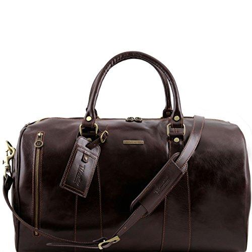 Tuscany Leather TL Voyager Sac de voyage en cuir - Grand modèle Marron foncé