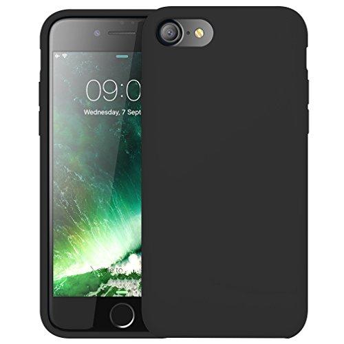 FIRST2SAVVV Nero iPhone 7 plus 5.5 Shock Assorbente Custodia, Apple iPhone 7 plus Case Custodia Shock-Absorption Bumper Cover e Anti-Graffio - XJPJ-I7-5.5-C01 Nero silicio custodia