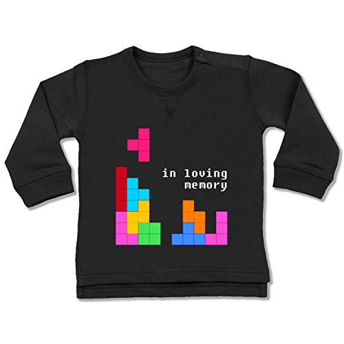 Up to Date Baby - Tetris in Loving Memory - 18-24 Monate - Schwarz - BZ31 - Baby Pullover