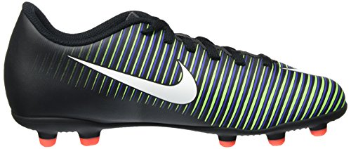Nike Mercurial Vortex Iii (Fg) Firm-Ground, Chaussures de Football Mixte Enfant Noir (Black/white-electric Green-paramount Blue-hyper Orange)