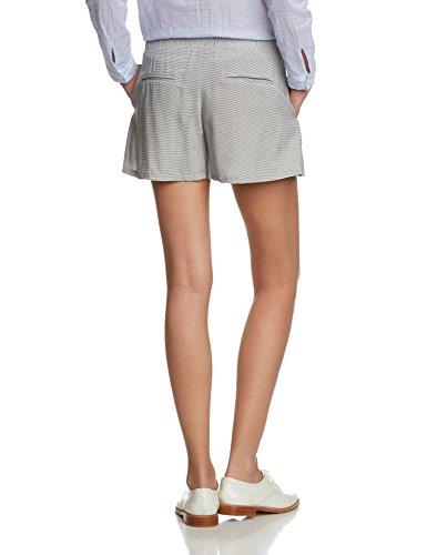 VILA CLOTHES Damen Short 14027278 Blau (Black Iris Stripes:VAPOR BLUE)
