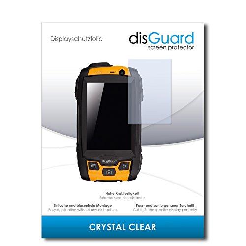 disGuard® Bildschirmschutzfolie [Crystal Clear] kompatibel mit RugGear RG500 [4 Stück] Kristallklar, Transparent, Unsichtbar, Extrem Kratzfest, Anti-Fingerabdruck - Panzerglas Folie, Schutzfolie