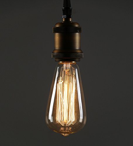 Antique ST64 Edison Filament Bulb Squirrel Cage