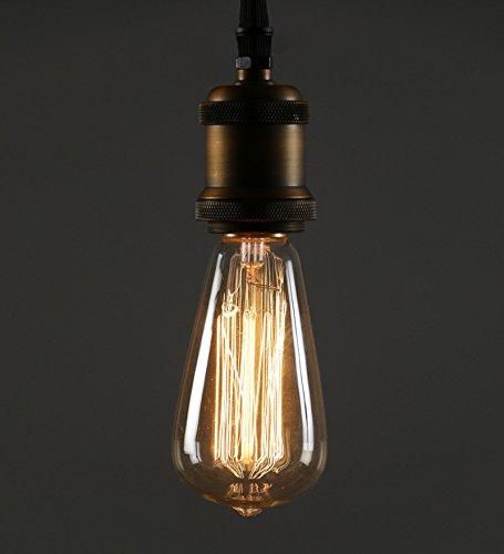 Antique ST64 Edison Filament Bulb Squirrel Cage