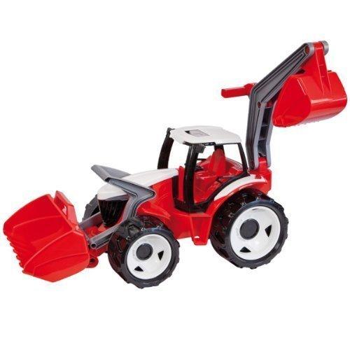 Lena M00002840 - Riesen Traktor mit Frontlader und Baggerarm, rot