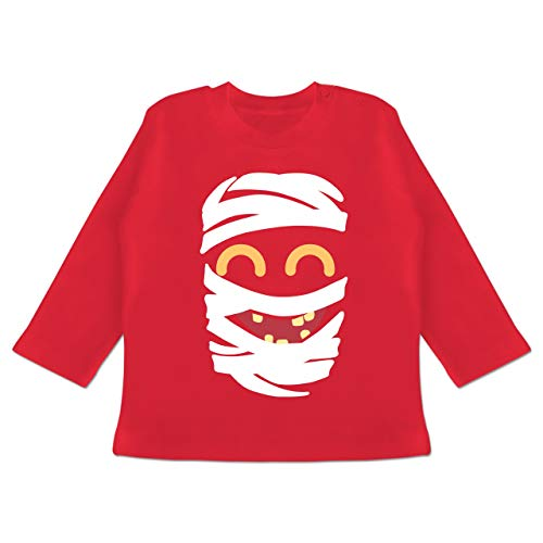 Kostüm Mädchen Mumie Kids - Karneval und Fasching Baby - Mumie Karneval Kostüm - 3-6 Monate - Rot - BZ11 - Baby T-Shirt Langarm
