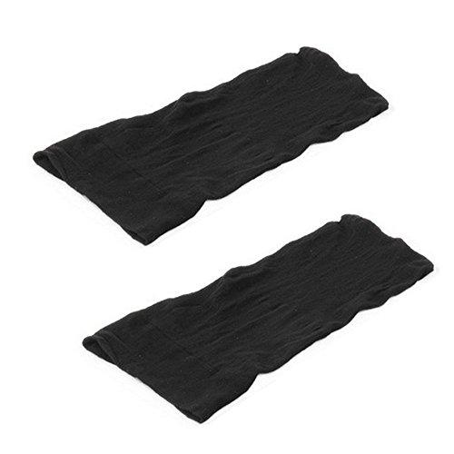 Vococal® 1 Paire En Nylon Réglable Perruque Open Top Pac Noir