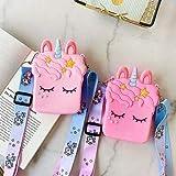 LIGHTER HOUSE™ Lovely Unicorn Cartoon Cross Body Bag Zipper Adjustable Shoulder Pouch Coin Purse Girl Cross Body Bag New Shou