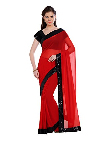 Viva N Diva Saree For Women's new collection party wear Red Color...