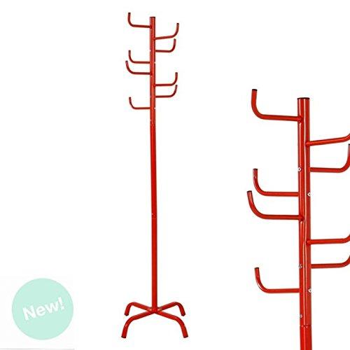 Dcasa - Perchero pie rojo diseño cactus 175 cm