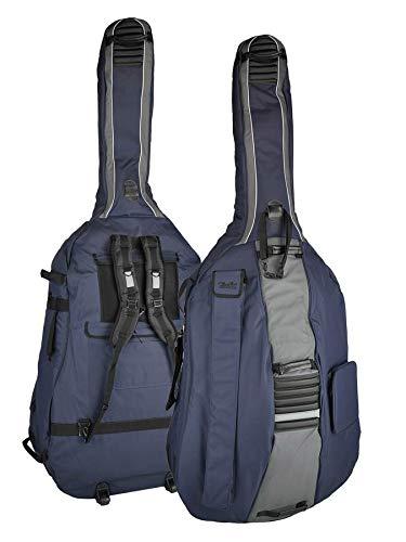Boston Tasche für Kontrabass 4/4 dunkelblau-grau