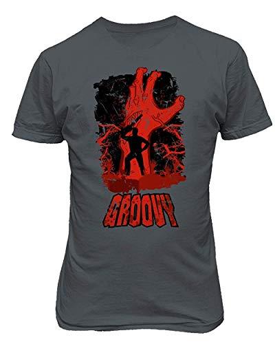 Klauset Herren Totes Halloween Groovy of Darkness Neuheit Print Graphic T-Shirt