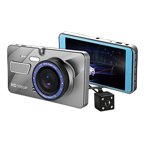 Symboat Kfz-DVR-Videokamera, 10,2 cm (4 Zoll), HD, 1080P, Dual-Linse, Nachtsicht-Recorder (Fahren Records Kamera)