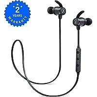 Auriculares Bluetooth Cascos Bluetooth magnéticos y deportivos, Auriculares inalámbricos con Bluetooth 4.1 para running (