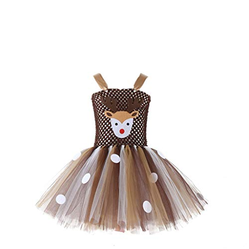 DOLLAYOU Kleid Bunt Kinder Halloween Tutu Mesh
