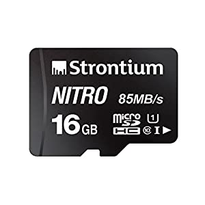 Strontium Nitro 16GB Micro SDHC Memory Card 85MB/s UHS-I U1 Class 10 High Speed for Smartphones Tablets Drones Action Cams (SRN16GTFU1QR) Best Online Shopping Store