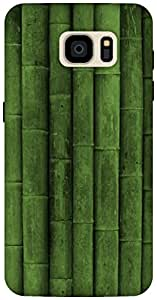 The Racoon Lean Green Bamboo hard plastic printed back case / cover for Samsung Galaxy S7