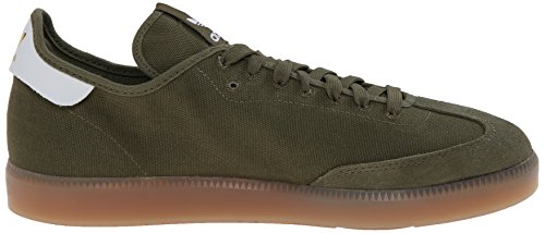 Adidas Originals Samba Mc Lifestyle Soccer-style Indoor Sneaker, Core noir / blanc / métallique / o Olive Cargo / Running White / Metallic / Gold