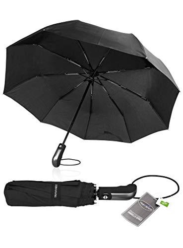 TRAVANDO ® Paraguas Plegable + Abrir Cerrar automático
