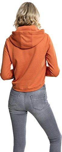 Urban Classics Ladies Interlock Short Hoody, Sweat-Shirt à Capuche Femme Orange (Rust Orange 1150)