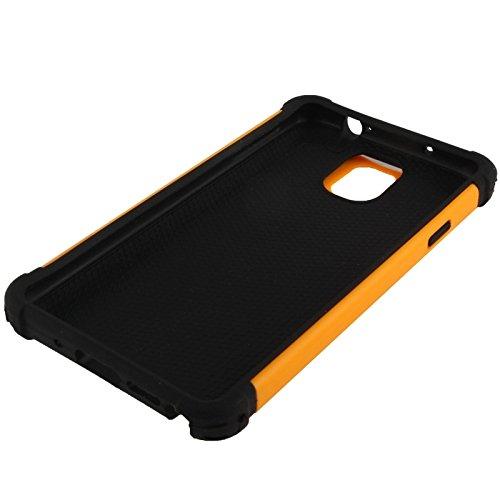 wkae Schutzhülle Case & Cover Waben Textur Kunststoff + Silikon Kombination Schutzhülle für Samsung Galaxy Note III/N9000 orange