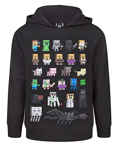 Minecraft Sprites Boy's Black Hoodie (5-6 Years) (Vanilla Sprite)