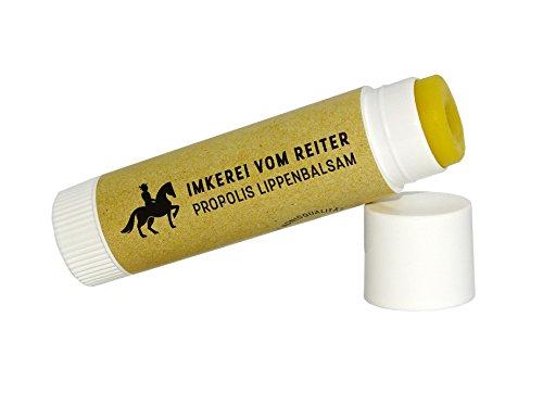 Natürliche Lippenpflege (Propolis Lippenbalsam vom Reiter, 1 Stk Lippenpflegestift (6g), 100% natürliche Lippenpflege, Bienenprodukt, Hautpflege)