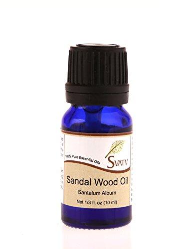 SVATV bois de santal (Santalum album) huile essentielle 10ml qualité thérapeutique