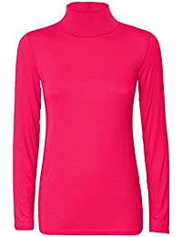 Femme à manches longues et col roulé Crop Top T-Shirt