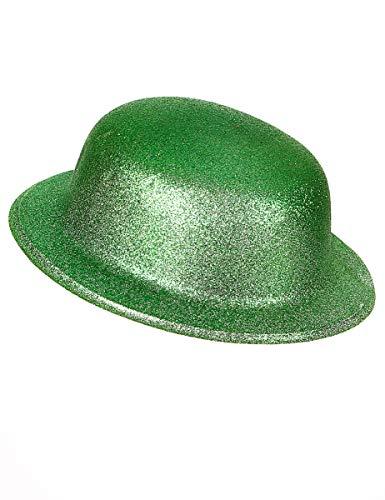 Grüner Glitzer-Hut Melone für Erwachsene an St. Patricks Day (Grüner Hut Für Erwachsene)