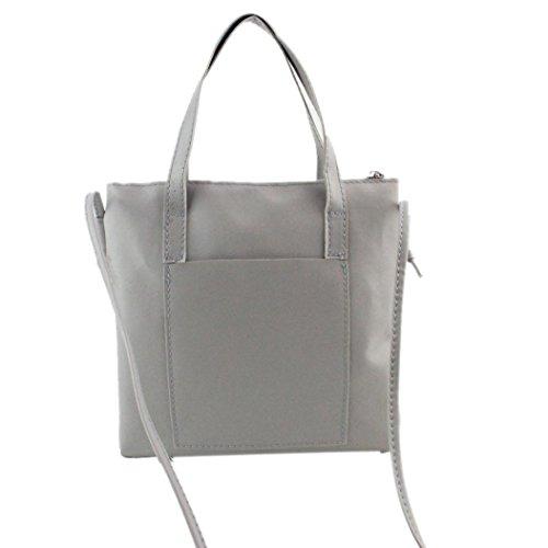 ZARU Frauen-Art- und Weisehandtasche, Schulter-Beutel-großer Tote-Geldbeutel Grau