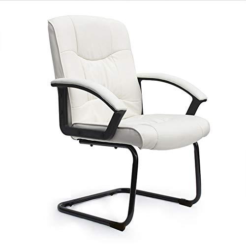 PU-Leder-Bürostuhl Computertisch-Drehstühle Ergonomisches Design Hocker Stuhl (Farbe : Weiß, form : Bow stand) -