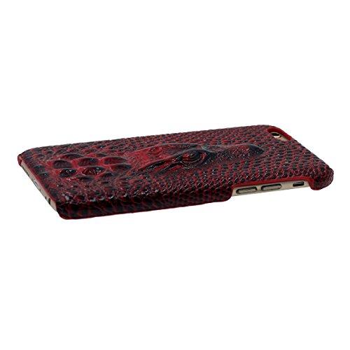 "iPhone 6S étui 4.7"" Ultra Poids Léger Fine, Apple iPhone 6 Coque Dur Case 3D Crocodile Apparence Serie [ Lifelike ] Original Style - Or Rouge"