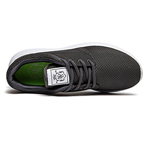 daillor Herren & Damen-air-breathing Mesh Laufschuhe, Walking Sneakers Grau