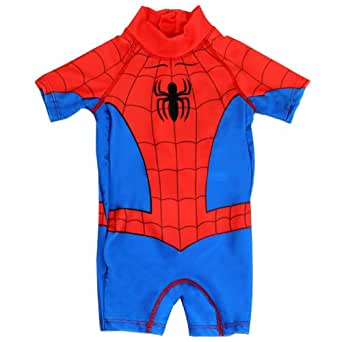Boys Spiderman All In One Swimsuit   Spiderman Sun Suit   Age 3
