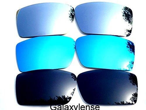 Galaxis Ersatzgläser für Oakley Gascan Schwarz & Blau & Titan Farbe Polarisierend 3 Paar - Schwarz & Blau & Titan, regular (Oakley Gascan Lens)