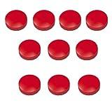 10x Magnete, Rot Ø 24mm, Haftmagnete für Whiteboard, Kühlschrankmagnet, Magnettafel, Magnetwand, Magnet Rund