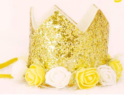 SUNXIN Kreative Blume Krone Geburtstag Hut Kind Geburtstag Pailletten Kuchen Kappe Krone Kappe