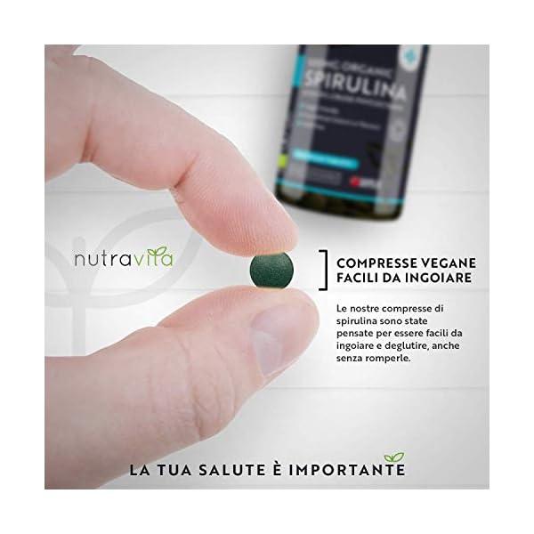 Spirulina Biologica 3000 mg con Ficocianina Grezza 19% - 600 Compresse Vegane - 500mg con Compresse - Prodotto biologico - Prodotto nel Regno Unito da Nutravita 5 spesavip