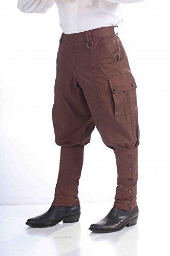 Herren Steampunk Hose - Gr. M (Erwachsene Braun Steampunk Kostüme Hosen)