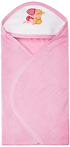 Tiny Care Baby Hooded Towel Plain (Pink)