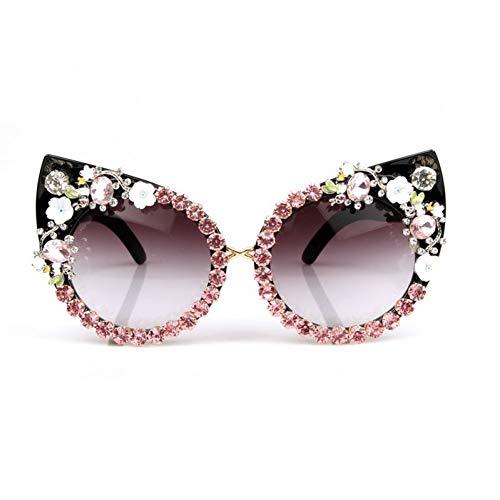 YLNJYJ Sonnenbrillen Sonnenbrille Frauen Red Strass Sonnenbrille Sexy Cat Eye Sonnenbrille Vintage Shades Brillen Oculos