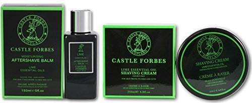 castle-forbes-lime-essential-oil-150ml-aftershave-balm-and-200ml-shaving-cream-set-no-parabens-no-ar