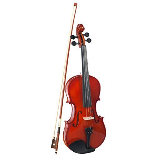 Homyl 1/2 Violine Geige mit Koffer Bogen Kolophonium Putztuch, handgearbeitet, Geschenk für Anfänger, Studenten oder 4-5 jährige Kinder - Top Qualität