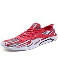 KMJBS Herrenschuhe Sommer-Schuhe Männer-Sportschuhe Jogging-Schuhe  Atmungsaktive Schuhe Rote Männer 749149614e