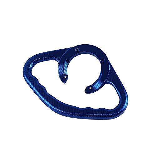Motorrad Haltegriff Zubehör CNC Aluminium Motorrad Beifahrerhandgriffe Handgriff Tank Haltegriff Griffe Armlehne Für Suzuki GSXR400 600 750 1000 1100 SV650 Motorradteile (Color : Blau)