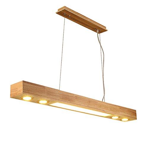 Teardrop Bar Tisch (JIAHONG Europäische Massivholz Kronleuchter LED rechteckigen Tisch Büro hohe Helligkeit LED-Beleuchtung, Restaurant hängen Lichter (Color : White light))