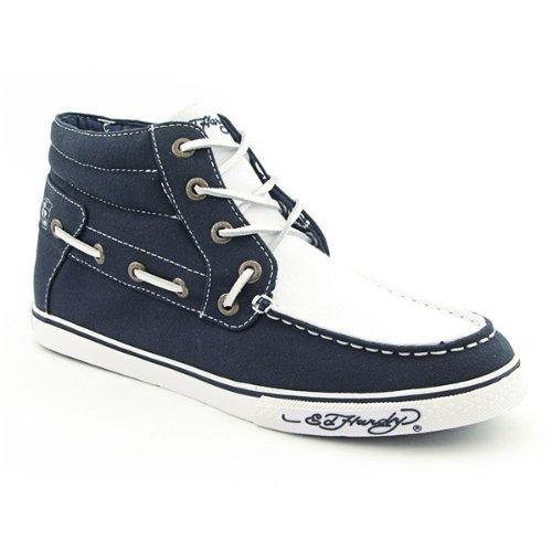Ed Hardy - Chaussures mode - La Paz bleu marine - blanc